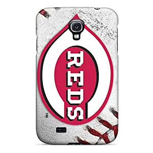 Samsung Galaxy S4 Bbe5420fzxo Customized Fashion Cincinnati Reds Pattern Shock Absorbent Hard Cell-phone Cases -KaraPerron