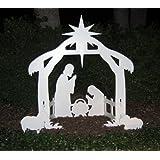 Teak Isle Christmas Outdoor Nativity Set, Yard Nativity Scene