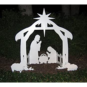 teak isle christmas outdoor nativity set yard nativity scene