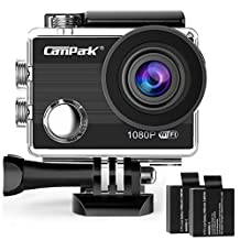 Campark ACT68 Action Camera 2.7K 12MP Full HD 1080p Cameras Outdoors Sport WiFi Action Camera with 170 Degree Wide-angle Lens and