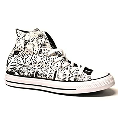 Converse all star animal print hi top white for Converse all star amazon