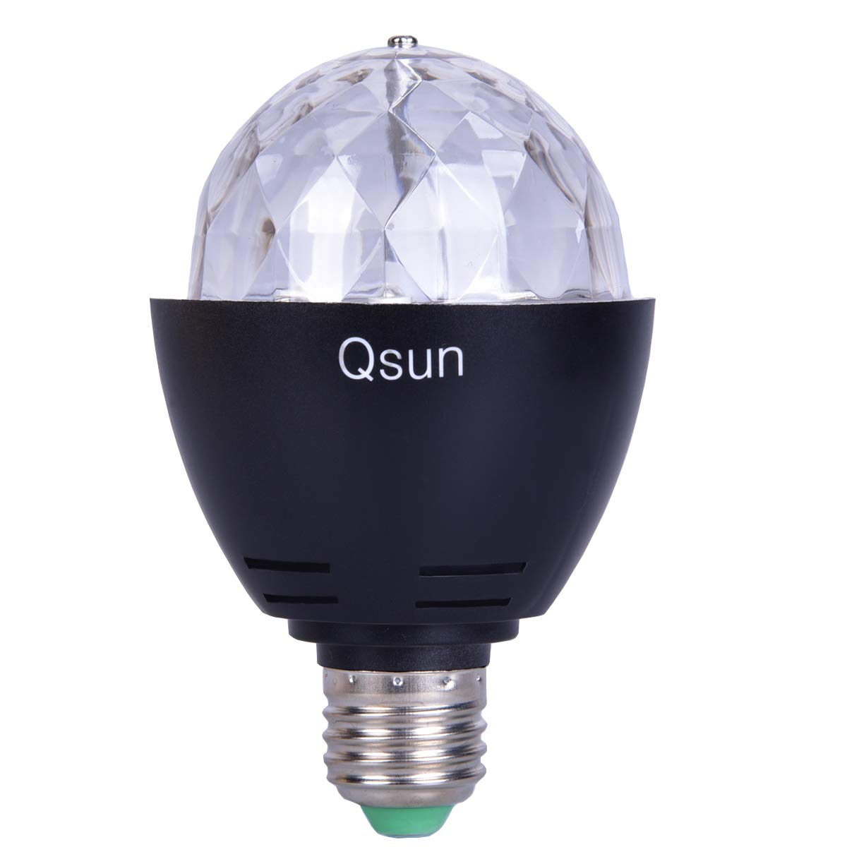 Qsun LED Rotating UV Blacklight Bulb E26 Stage