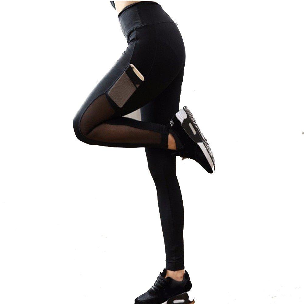 03dc88fefbb33 Amazon.com: Women Phone Pocket Yoga Leggings - Women Running Leggings with Phone  Pockets: Clothing