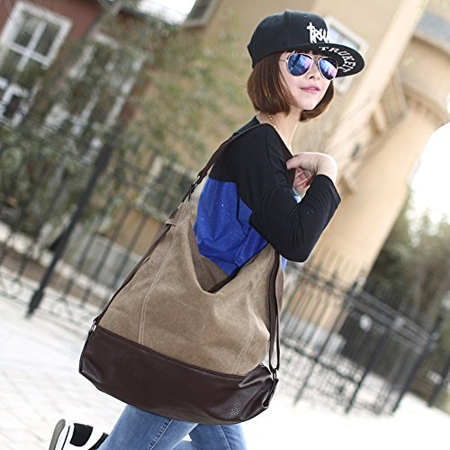 Azul Al Yoome size Bolso Yoohobo0034 Beige Mujer Rosso Para blue Hombro One AAt8wqF