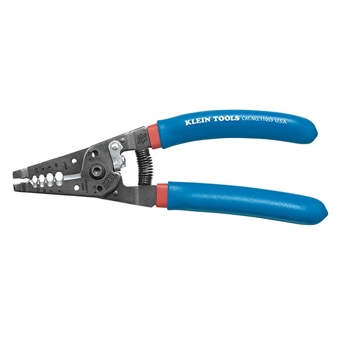 klein tools wire stripper and cutter for awg stranded  klein tools 11053 wire stripper and cutter for 6 12 awg stranded wire klein stripping com