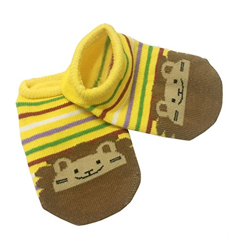 6pairs Baby Anti Slip Ankle Sock Toddler Non Skid Cotton No Show Cotton Animal Infant Unisex Socks 6-18month