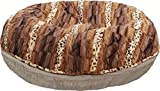 BESSIE AND BARNIE 42-Inch Bagel Bed for Pets, Large, Natural Beauty/Wild Kingdom For Sale