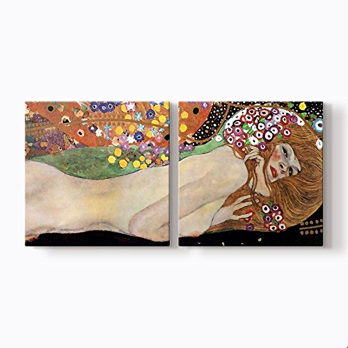 PlusCanvas - Water Serpents - Gustav Klimt - 105 x 50cm (40