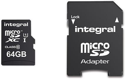 Integral 64GB microSDXC UltimaPro 64GB MicroSDXC UHS-I Class 10 Memoria Flash - Tarjeta de Memoria (MicroSDXC, 0-60 °C, Negro, UHS-I, Class 10, SD)