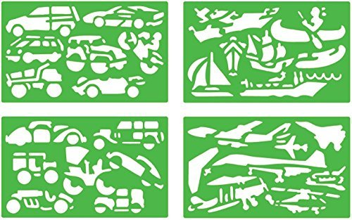 STENCILS MOVIE VEHICLES - MOVIE STENCILS by Quercetti 7e58c7