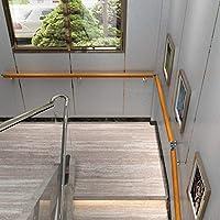 YUDE Barandilla de la escalera de Pared de Madera de Pino, Soporte de Acero Inoxidable, rieles de Seguridad de Madera Maciza Redonda, Adecuado para escaleras, Villas, hoteles (30-600 cm): Amazon.es: Hogar