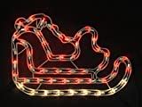 Sienna Red and Clear Lighted Santa's Sleigh Christmas Window Silhouette Decoration, 17.5""