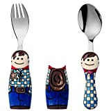 Eat4Fun Duo Collection Kids Fork & Spoon, Cowboy