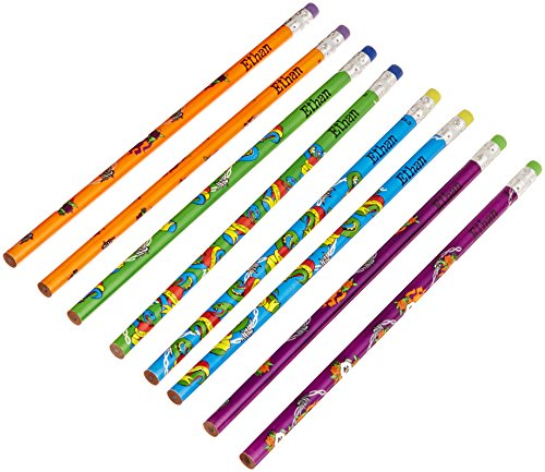 Ethan Design (NameStar Personalized #2 Pencils, Snake/Heart and Skull Designs, Pack of 8 - Ethan (96081))