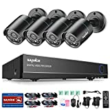 SANNCE 720P TVI Security Camera System 4 X 1500TVL Weatherproof TVI Camera with 3.6mm Lens And 4CH 1080N DVR Recorder Support AHD/TVI/CVBS- No Hard Drive