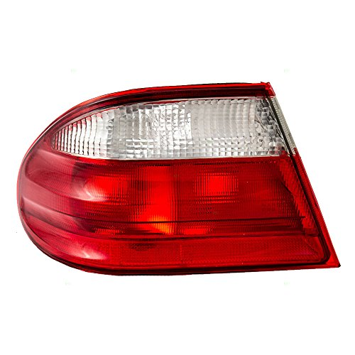 (Drivers Taillight Tail Lamp with Clear and Red Lens Replacement for Mercedes-Benz 2108203564 AutoAndArt)