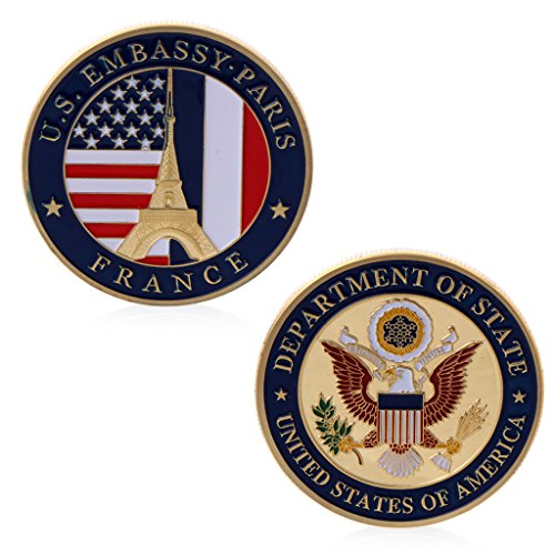 puhoon Commemorative Coin, US Embassy Paris Department Of State Commemorative Challenge Coin Collection Art, Valuable Coin For Commemoration, 85#