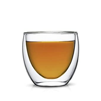Teabox Minerva Glass Teacup (Small, Doublewalled Borosilicate Tasting Tea Cups, Insulated Tea Cup, 80Ml) | Set Of 4 Dinnerware & Serving Pieces at amazon
