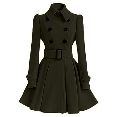 00f56bab6 QUINTRA Women Coats Ladies Winter Warm Women Woolen Coat Trench ...