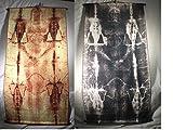Shroud of Turin Full Size Body Negative on Linen