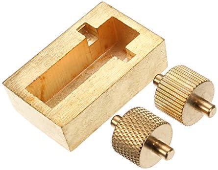 Queenwind レザークラフトツール絵画ボックス真鍮 DIY の手は2ローラーで縫製ツールを作ります