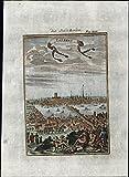 London England birds-eye prospect city view 1719
