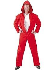 Fiestas Guirca Costume Casa di Carta Tuta Rossa con Cappuccio Uomo