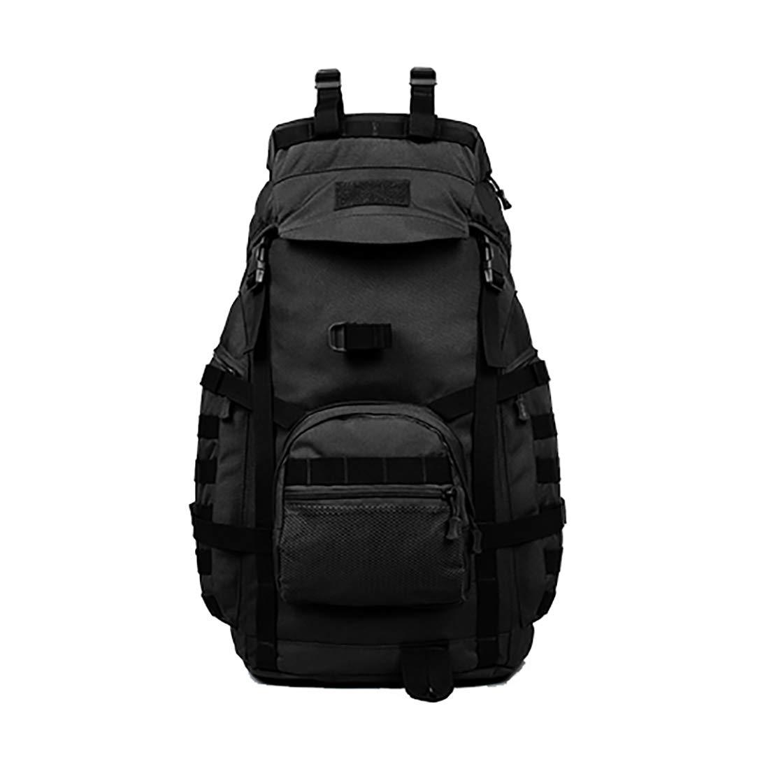 CAFUTY 男性と女性のための等身大のキャンプハイキングランニング登山バッグのバックパック (Color : ブラック)  ブラック B07N6H83SJ