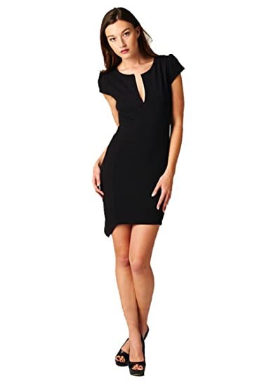 On Trend Little Black Dress With Cap Sleeves Large At Amazon
