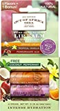 Out of Africa Shea Butter Lip Balm 4-Pack with Tropical Vanilla, Coconut, Orange Cream & Pomegranate Acai-4 Pack