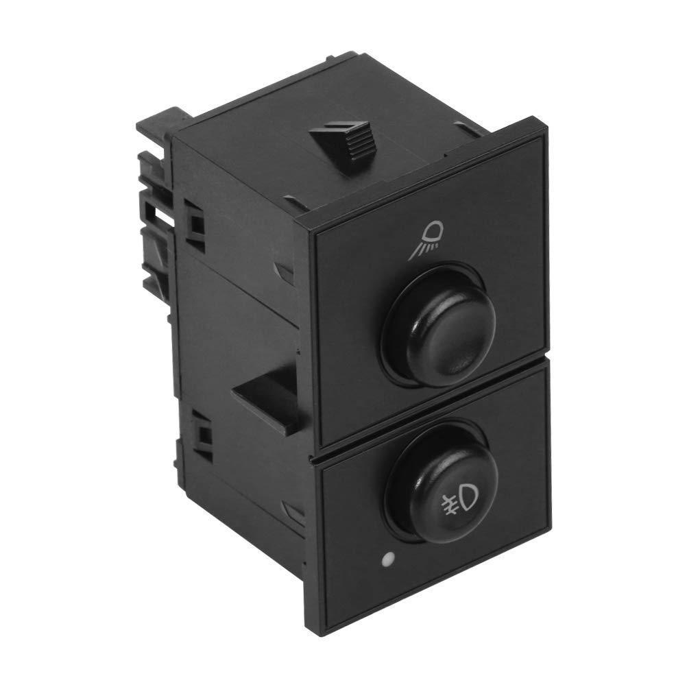 Cargo & Fog Lamp Switch - Replaces# D7096C, 15143597, 1S14820. 15076588 - Fits Chevy Silverado 1500, 2500 HD, 3500 Classic, Suburban 2500, Tahoe, GMC Sierra 1500, Yukon, Yukon XL 1500 & XL 2500 & more AA Ignition