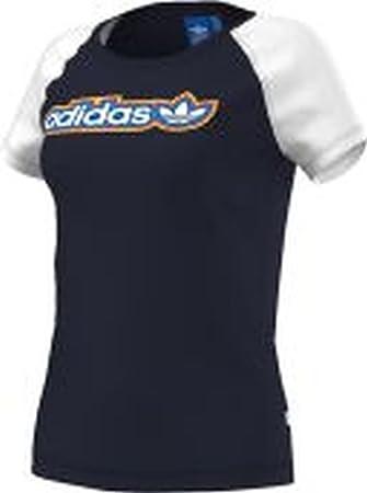 Adidas Originals - Camiseta de Mujer New Azul Legink/White Talla:44 [DE 42]: Amazon.es: Deportes y aire libre