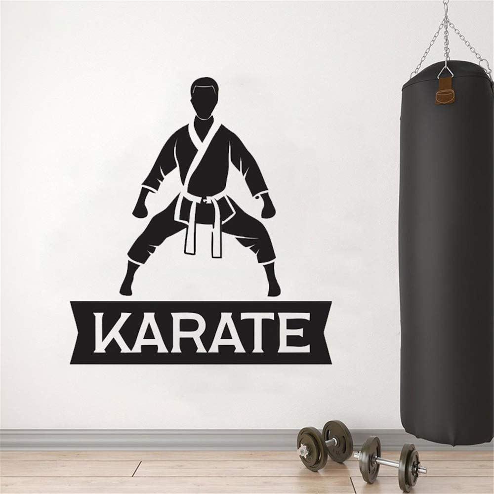 Wall Quotes Decal Wall Stickers Art Decor Karate Wall Sticker MMA Decor for Kids Bedroom Living Room Karate Hall by Cenrial