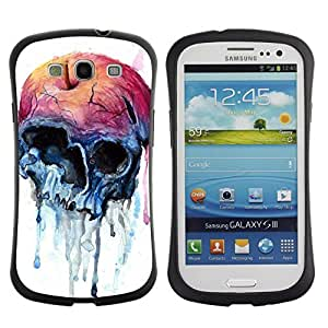 Be-Star Colorful Printed Design Anti-Shock Iface First Class Tpu Case Bumper Cover For SAMSUNG Galaxy S3 III / i9300 / i747 ( apple watercolor skull art death ) Kimberly Kurzendoerfer
