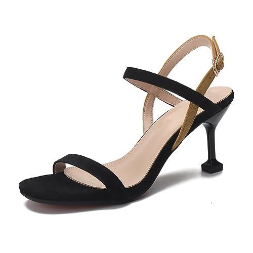 Ruiren Sandalias del Talón del Gatito de Las Mujeres Zapatos Abiertos del  Dedo del Pie del Tobillo de los Altos Talones para Las Señoras  Amazon.es   Zapatos ... 29d95e812ca5