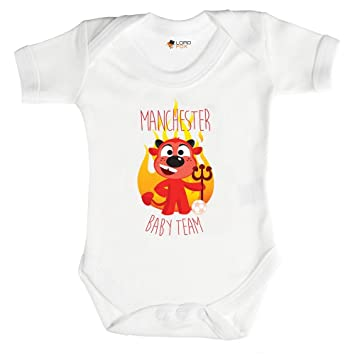 fdd50a79f Newborn Babygrow Manchester United Baby Football Team Utd Babygrow Baby Grow  All Sizes Onesie