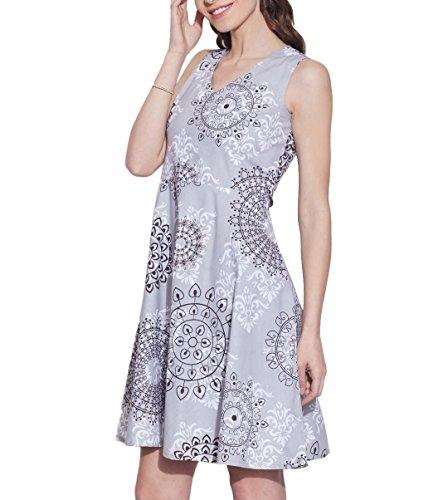 Femmes Accessoires Robe en coton imprimé, lavable en machine, W-CPD32-1602, Taille-32 pouces