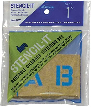 Rust-Oleum~25mm~ALPHABET~LETTERS /& NUMBERS CLEAR STENCILS~PACK OF 2~RE-USEABLE~