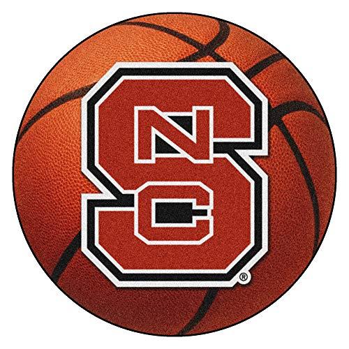 FANMATS NCAA North Carolina State University Wolfpack Nylon Face Basketball Rug