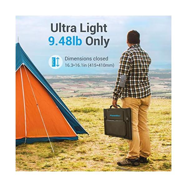 516ZewTCLuL PowerOak Faltbares Solarpanel SP120 - Solarmodul für PowerOak AC50S/EB150/EB240/AC200P Tragbare Powerstation 120W…