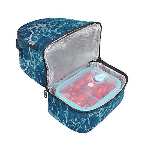 doble picnic Bandolera correa Beach almuerzo para bolsa ajustable Cooler de Waves Ocean 4faZqTw