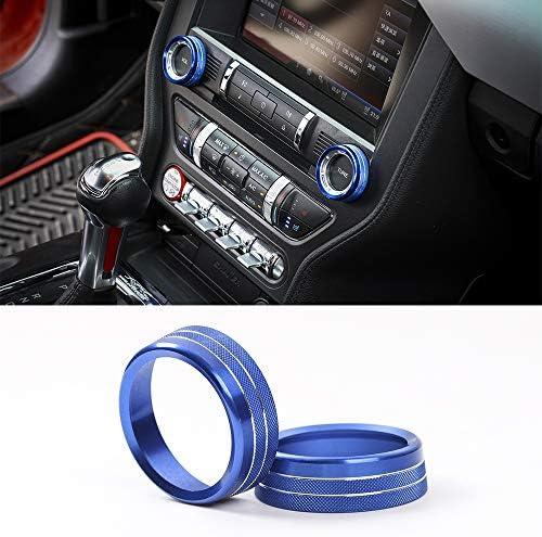 [해외]Blue Aluminum Center Console Volume Adjustment Knob Conditioning Switch Ring Trim for Ford Mustang 2015 2016 2017 / Blue Aluminum Center Console Volume Adjustment Knob Conditioning Switch Ring Trim for Ford Mustang 2015 2016 2017