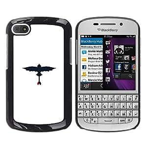 A-type Arte & diseño plástico duro Fundas Cover Cubre Hard Case Cover para BlackBerry Q10 (Dragon volador)