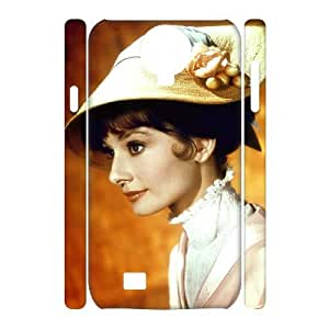 C-EUR Cell phone case Audrey Hepburn Hard 3D Case For Samsung Galaxy S4 i9500