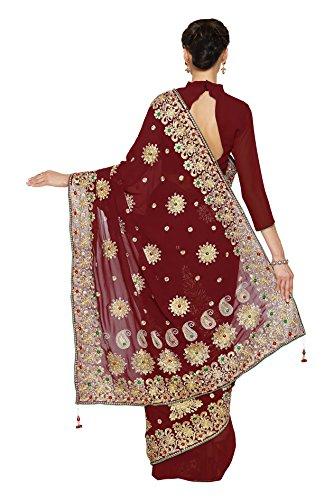 Party Dress Maroon Fashion Saree sari 5239 Mirchi Wedding Bridal Women Indian f6AHX