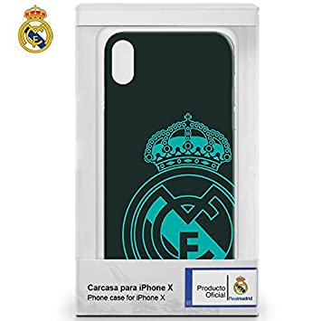 Real Madrid RMCAR018 - Carcasa TPU para Apple iPhone X, Color Negro