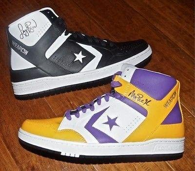 huge inventory great look vast selection LARRY BIRD & MAGIC JOHNSON Signed Converse Weapon Shoe PAIR + JSA ...