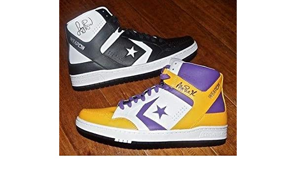 fb9bce186fe36e LARRY BIRD   MAGIC JOHNSON Signed Converse Weapon Shoe PAIR + JSA   Bird  Holo - Autographed NBA Sneakers at Amazon s Sports Collectibles Store