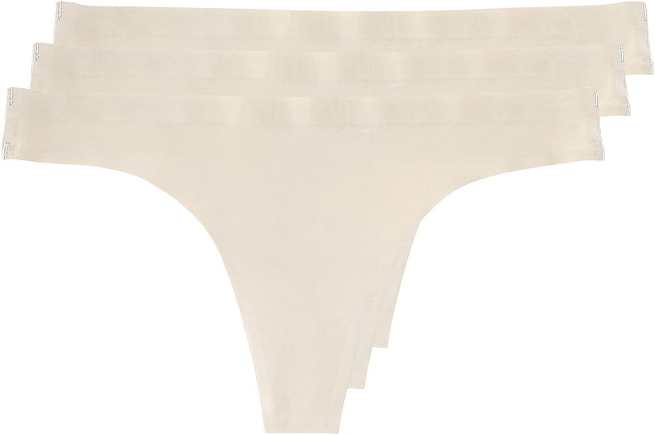 Yenita/® Perizoma Invisibile a Vita Bassa Senza Cuciture da Donna Pacco da 3
