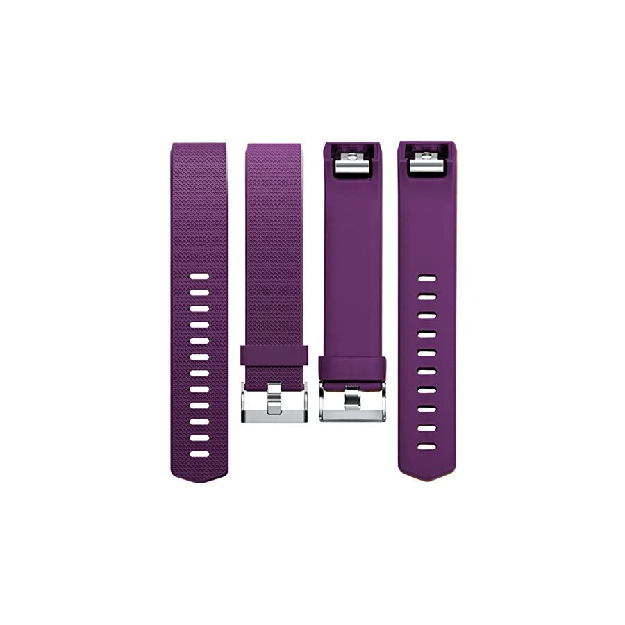 Wepro For For Fitbit Charge 2 bands, Replacement For Fitbit Charge 2 HR Bands, Buckle, Plum, Large